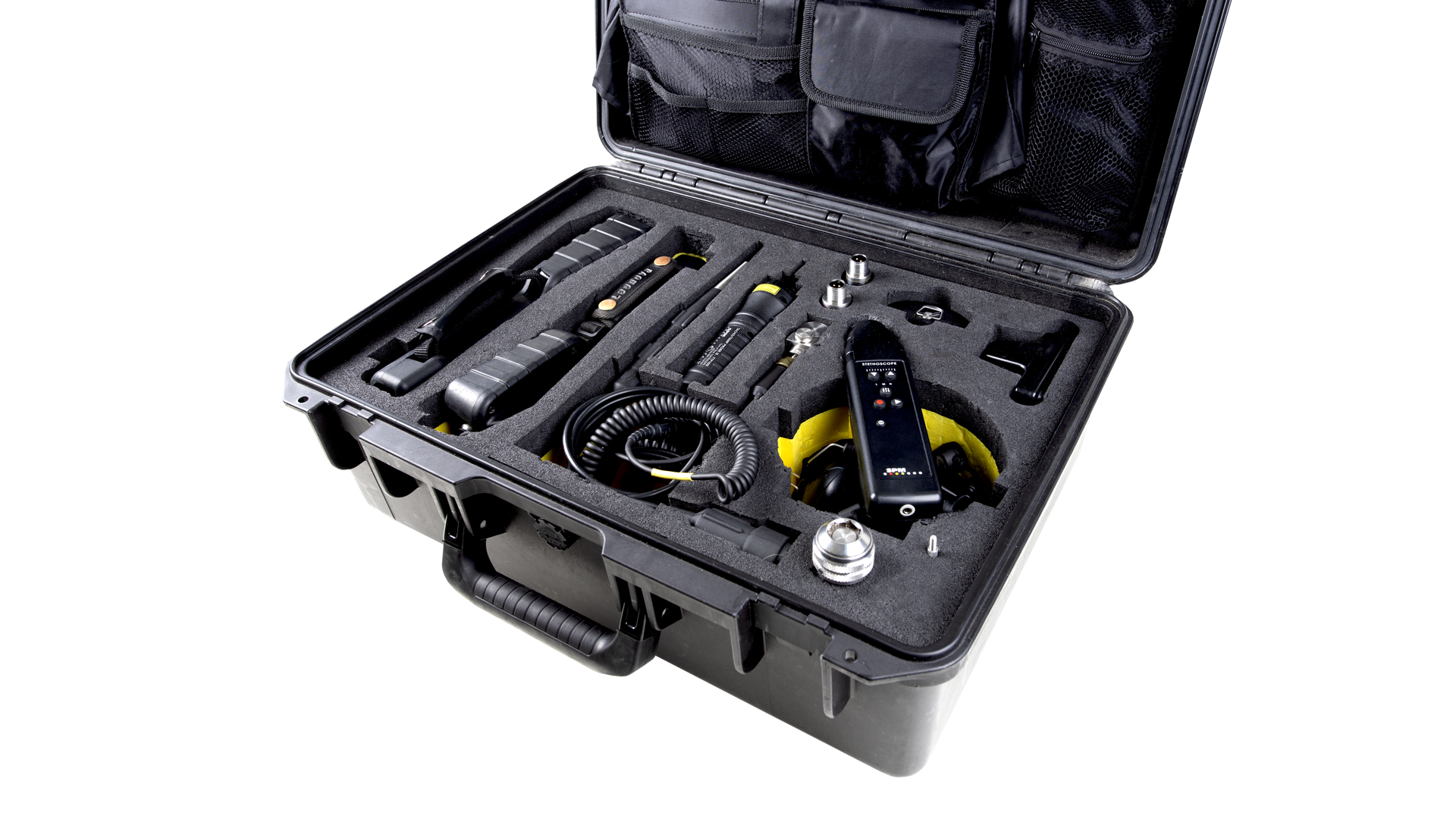 Carrying case CAS25, including portable instruments and accessories
